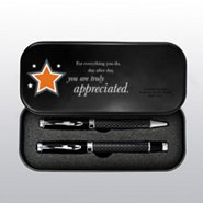 Executive Carbon Fiber Pen Set - Custom